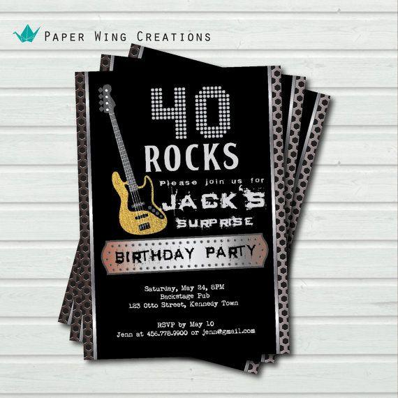 40th Birthday Invitation Surprise Party Man Birthday Party Invite