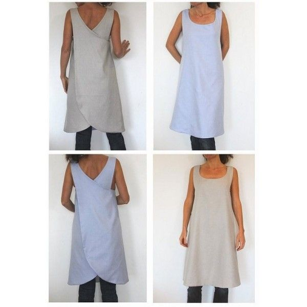 Sewing Pattern - backless reversible Tunic for woman | Jumper dress ...