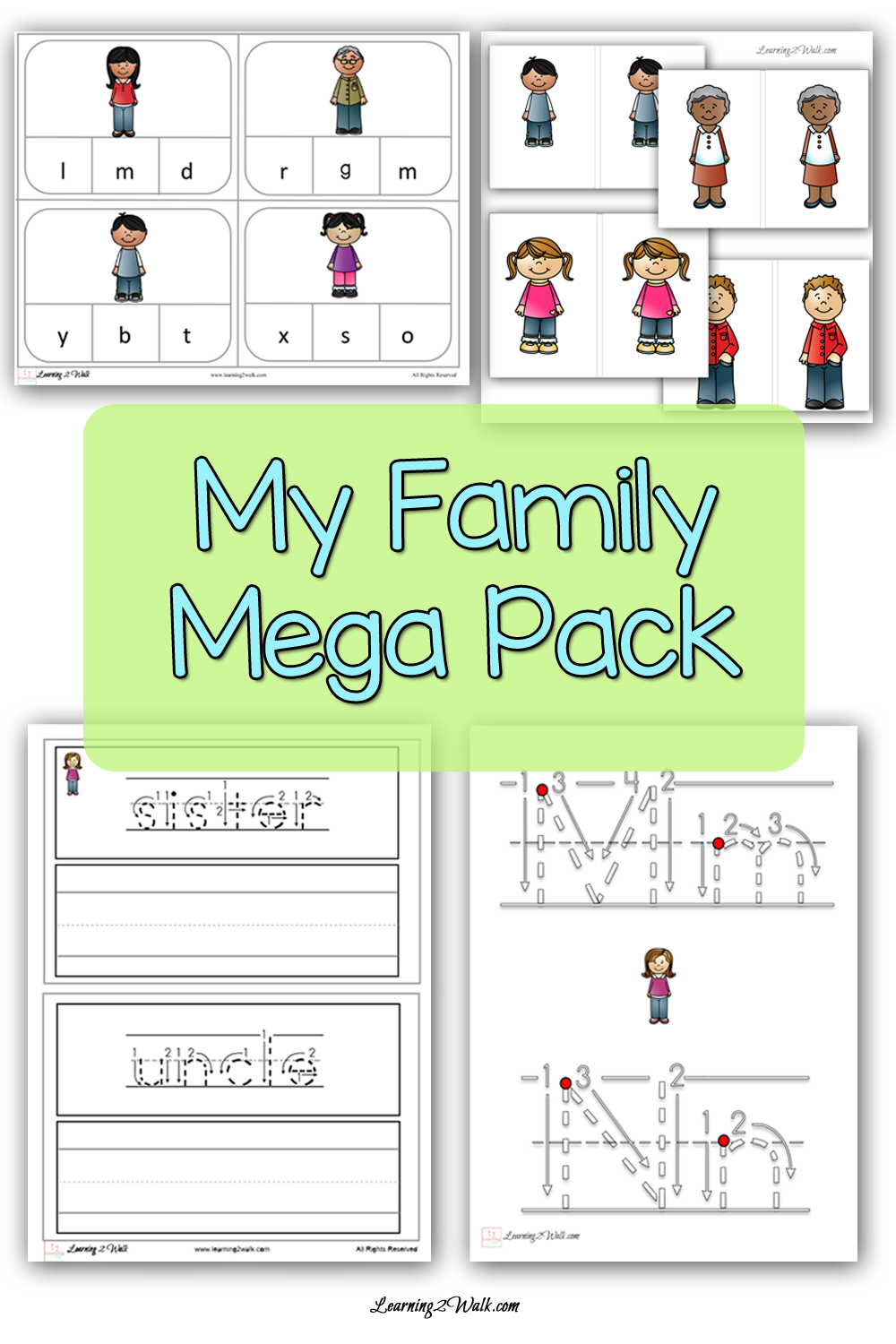 All About The My Family Mega Pack Preschool Family Theme