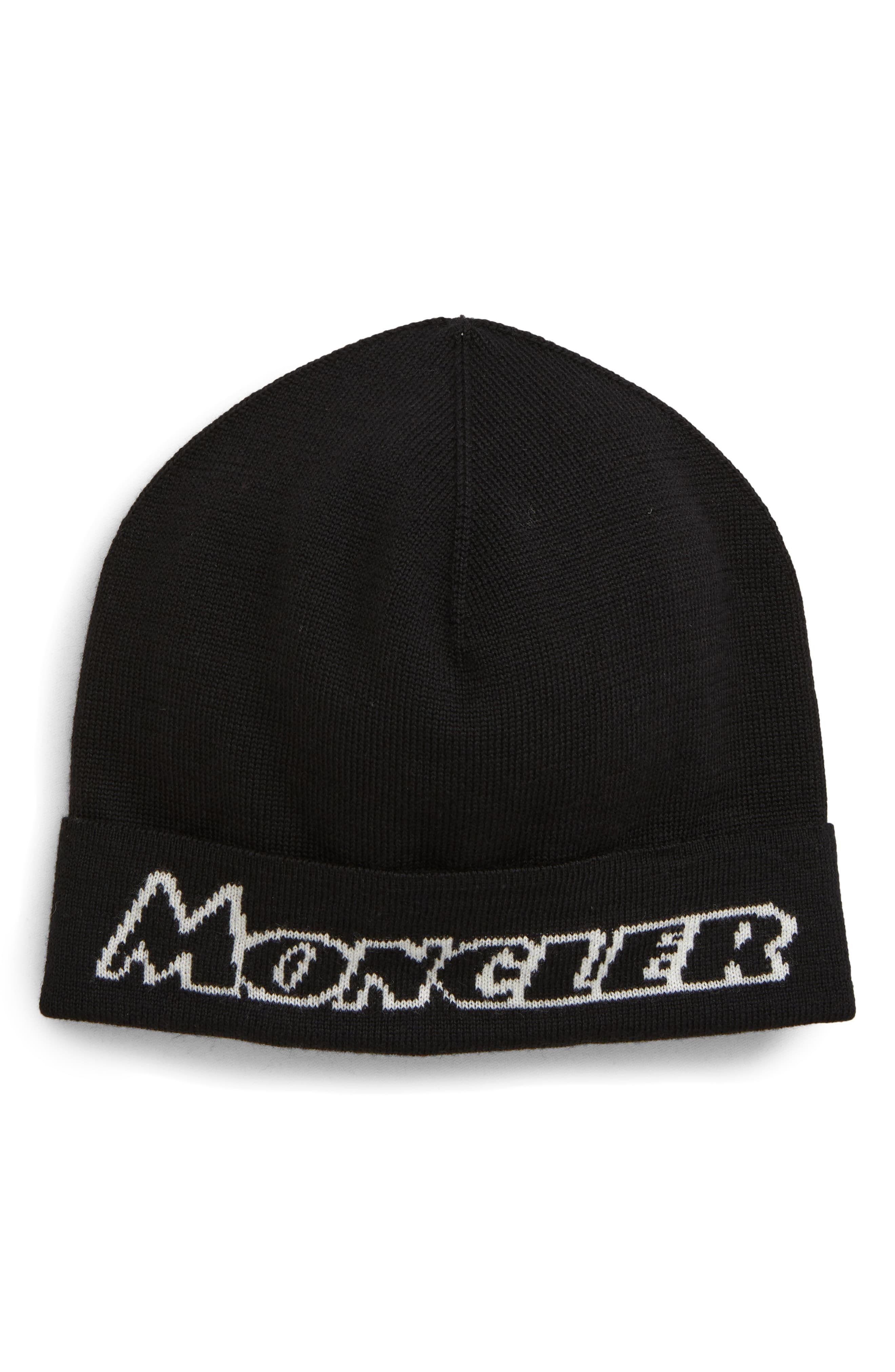 Moncler Logo Beanie Black Beanie, Moncler, Nordstrom