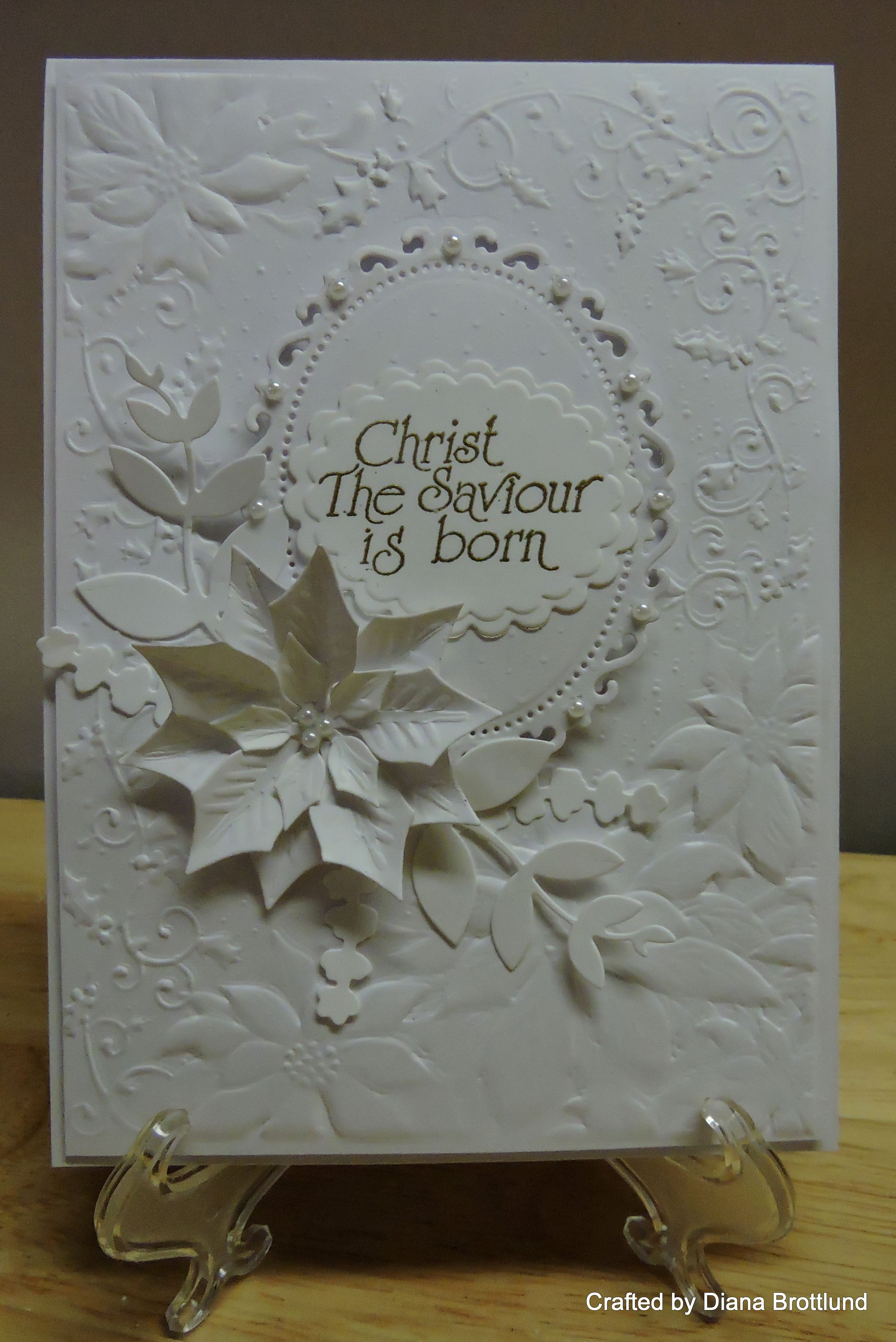 All in white, embossed Christmas card. | Christmas Cards 4 ...