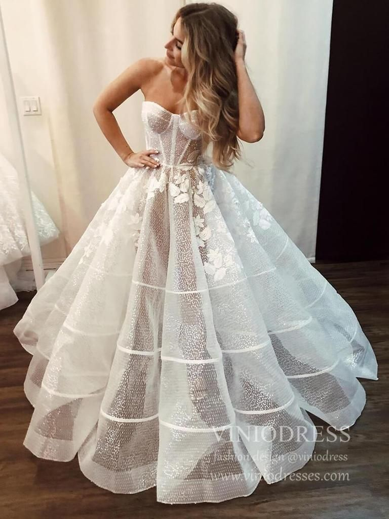 Simple Classy Strapless Ball Gown Wedding Dresses Vw1519 Dream Wedding Dresses Ball Gowns Wedding Bridal Dresses [ 1024 x 768 Pixel ]