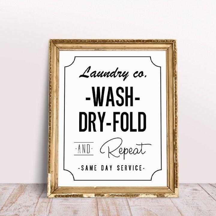 Free Printable Laundry Room Wall Art The Cottage Market Wandkunst Wascherei Free