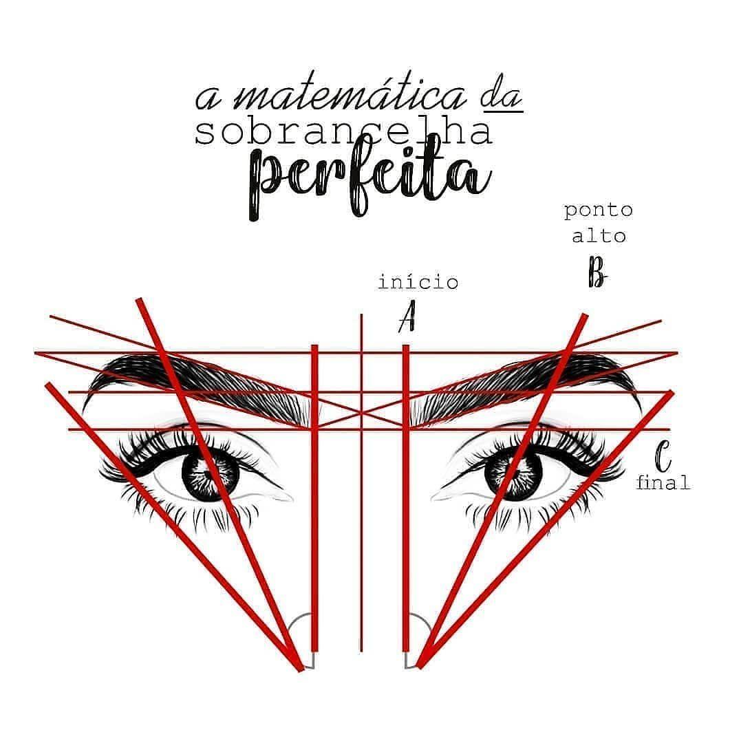 """Photo of Sobrancelhas perfeitas❤ on Instagram: """"Aprenda a matemática da sobrancelha!"""""""