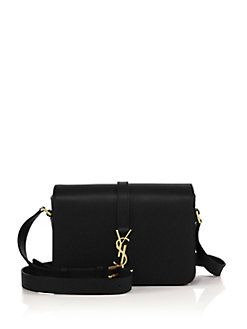 00cd21d6d45 Saint Laurent - Saint Laurent Monogram Universite Medium Leather Crossbody  Bag