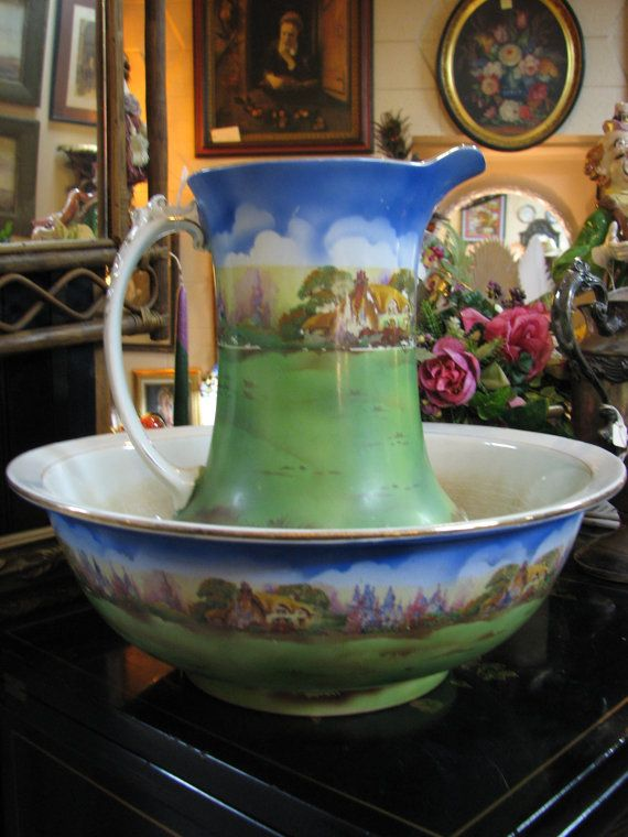 England New Bowl Ceramic Set Pitcher And Pottery