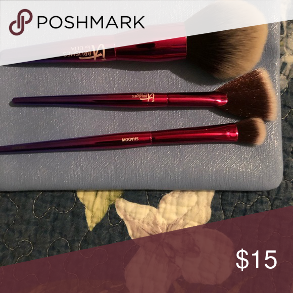 Used/Cleaned, 3 IT for Ulta Brushes, Pink/Purple Ulta