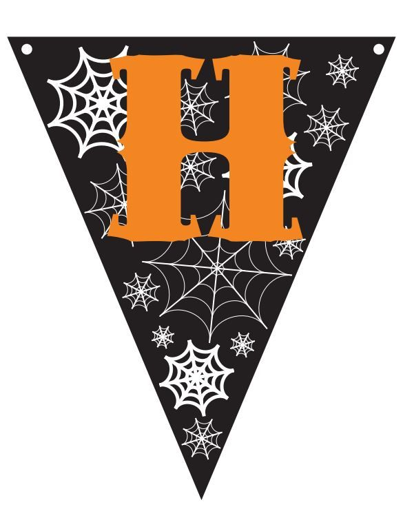 Free printable HAPPY HALLOWEEN bunting (click through the see the ...