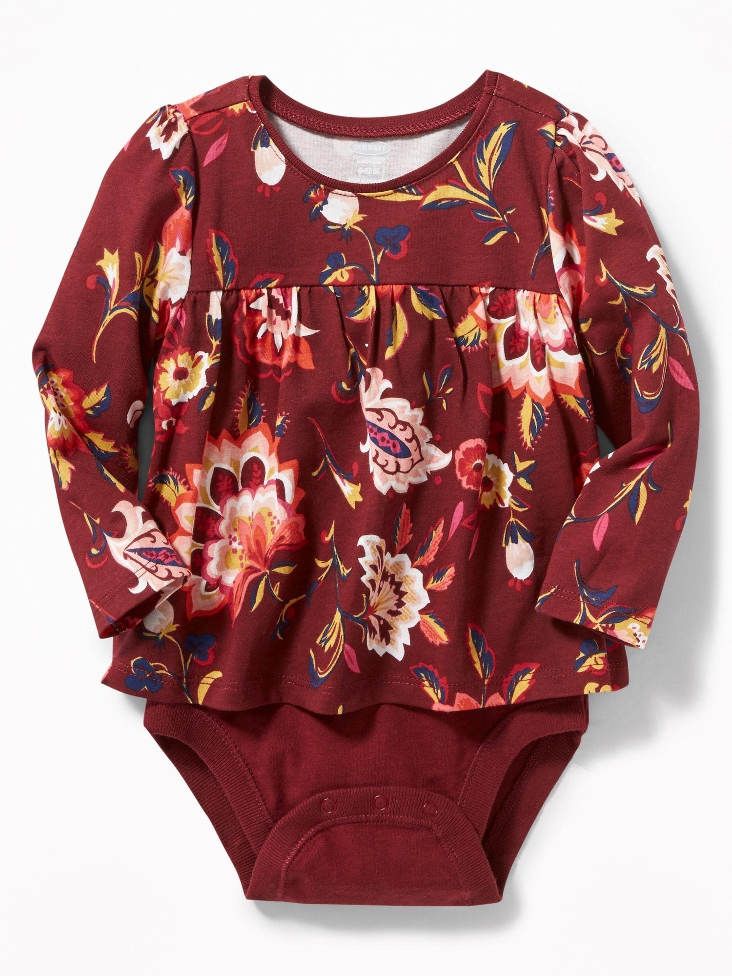 2-in-1 Jersey Bodysuit | Old Navy | Baby girl tops ...