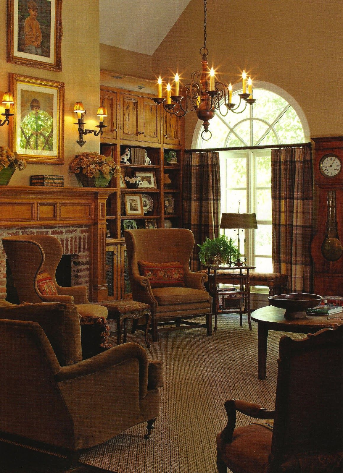 Old English Drawing Room: Vintage Mulberry: The Cottage Journal Winter Issue