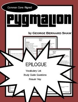 pyg on epilogue study guide george bernard shaw george  pyg on epilogue study guide george bernard shaw