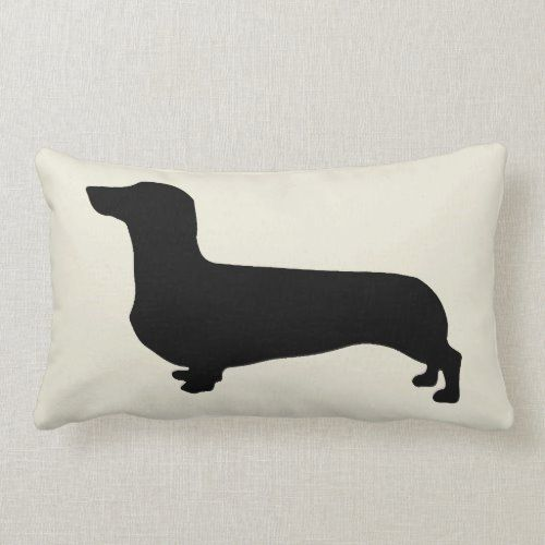 Dachshund Pillow with striped back