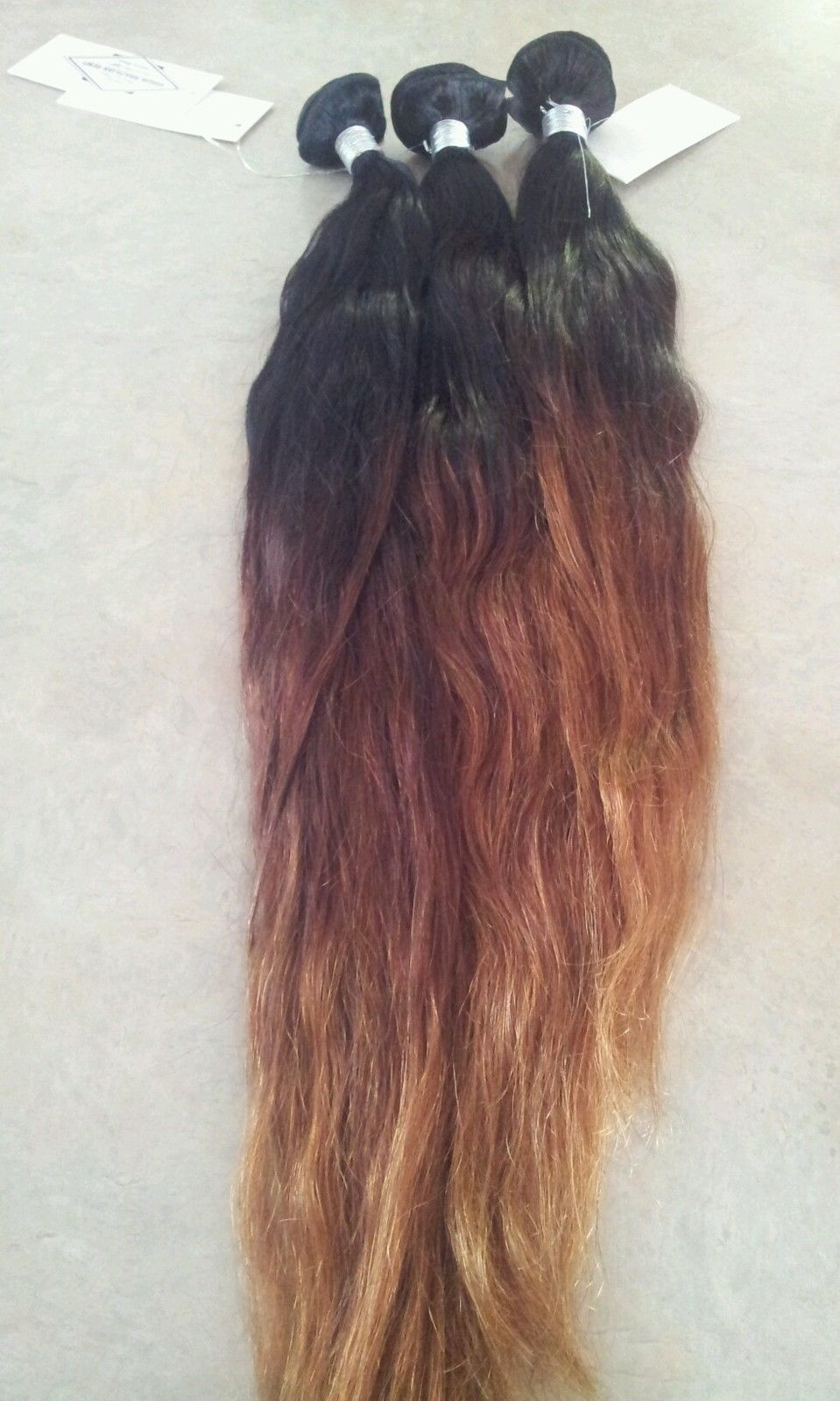 20 22 24 Brazilian Ombre Hair Extensions Full Sew In Weave