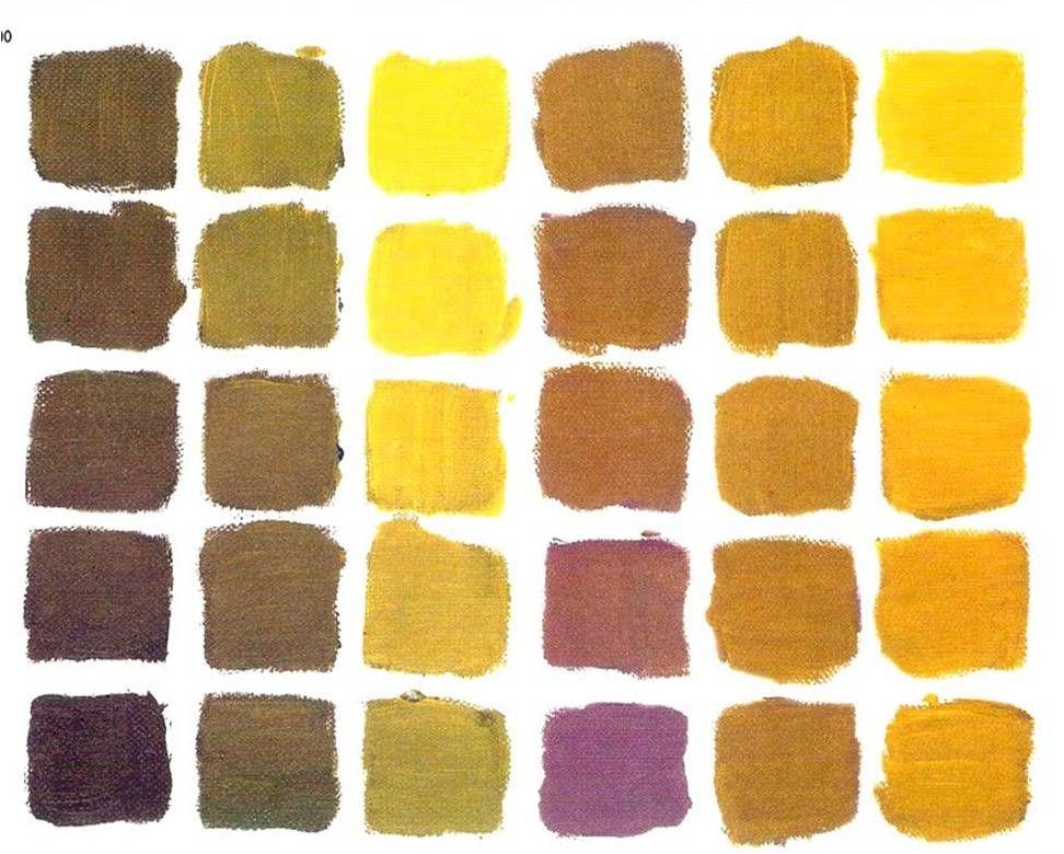 Colores quebrados oleo en 2019 colores ocres colores - Mezcla de colores para pintar ...