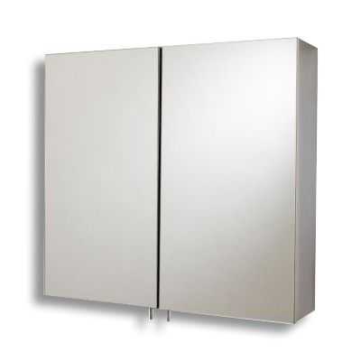 This double bathroom wall cabinet has two mirrored doors with magnetic catch 2 internal shelves and comes to you fully assembled. Manufactured from stainless steel.