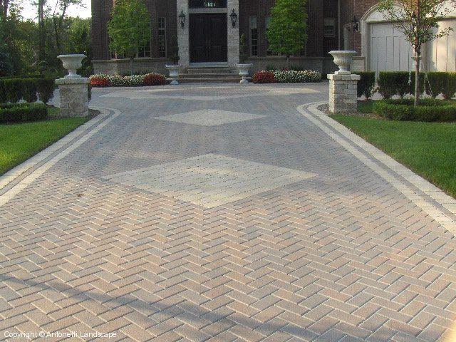 Brick Paving Patterns Michigan Brick Paving Driveways By Antonelli Landscape Brick Paving Brick Driveway Paving Ideas