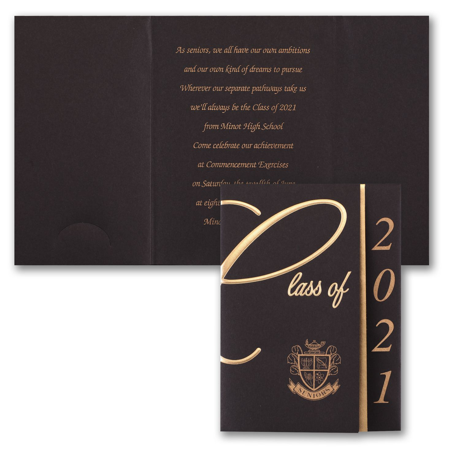 Dramatic Style Black Graduation Announcements Http