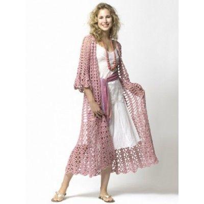 Free Pattern Long Bohemian Cardigan Crochet Pinterest