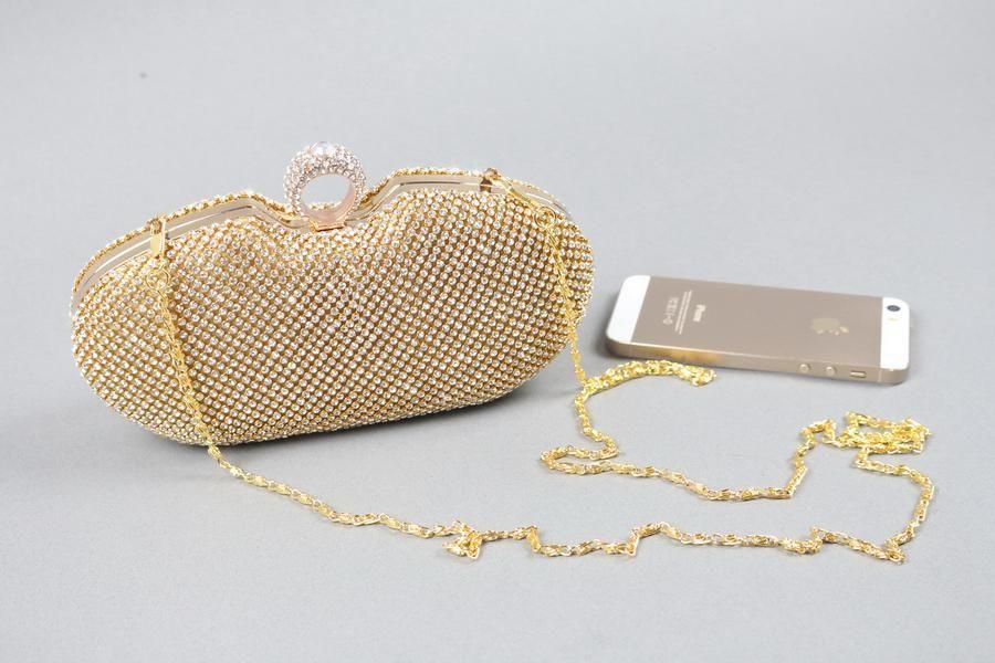 29e607775888b Cheap In Stock Gold Shiny Rhinestone Wedding Clutch Purse Handbags Evening  Bags Eb1 Ivanka Trump Handbags Online Bags From Promtime