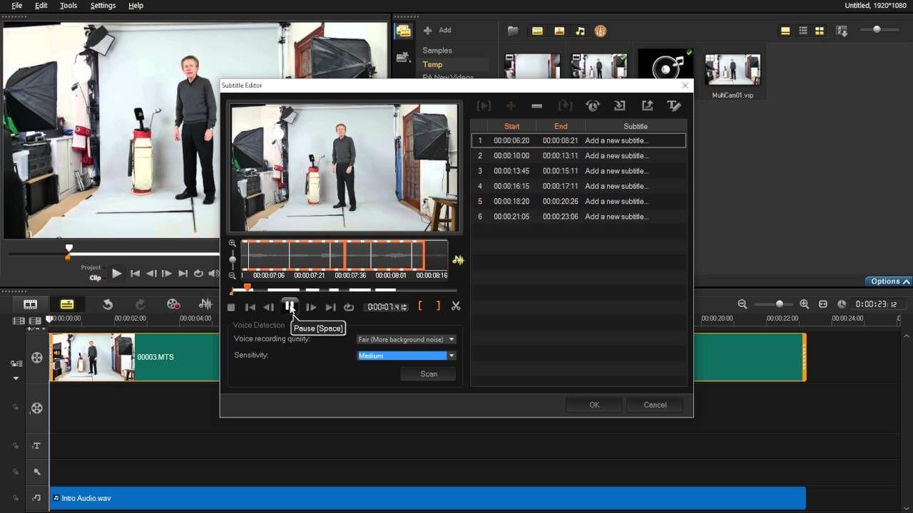 COREL VideoStudio X9 Ultimate - Subtitle Editing Utility