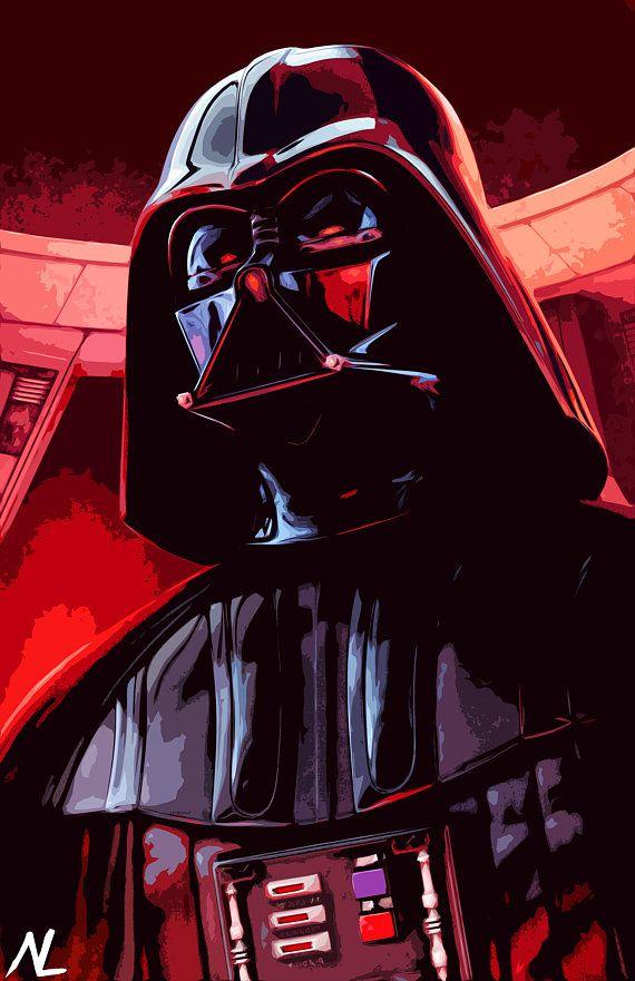 Darth Vader From Star Wars Illustration 2 Empire Sith