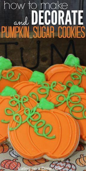 Pumpkin Sugar cookies #halloweensugarcookies