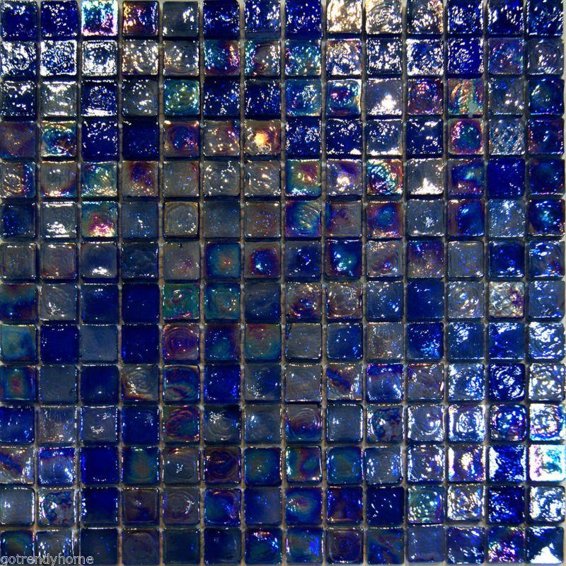 Sample Blue Iridescent Glass Mosaic Tile Kitchen Backsplash Spa Sink Wall Pool Glass Mosaic Tile Kitchen Glass Mosaic Tile Backsplash Kitchen Blue Glass Tile