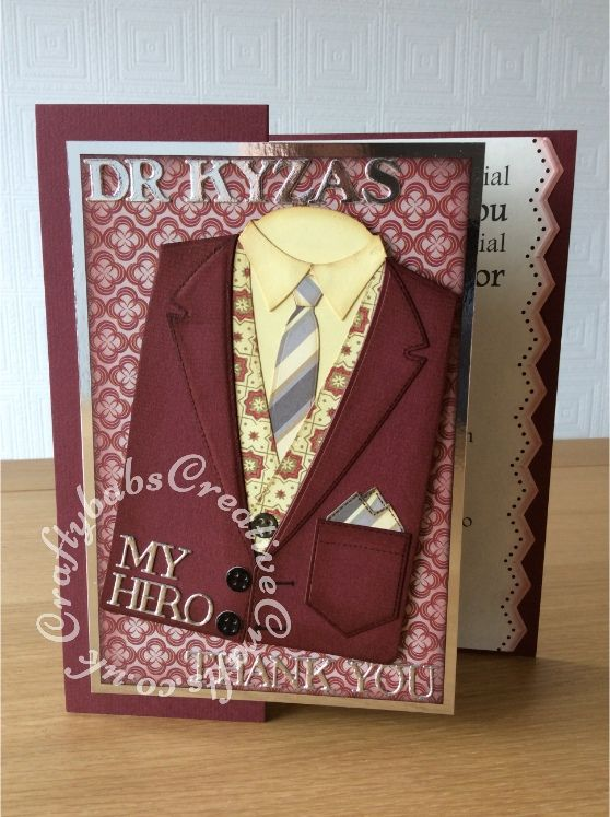 Men S Thank You Card Craftybabscreativecrafts Co Uk My Hand Made