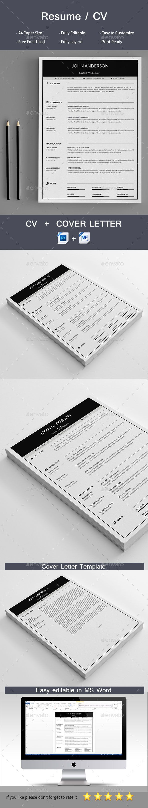 Cv | Resume cover letter template, Resume cover letters and Cover ...