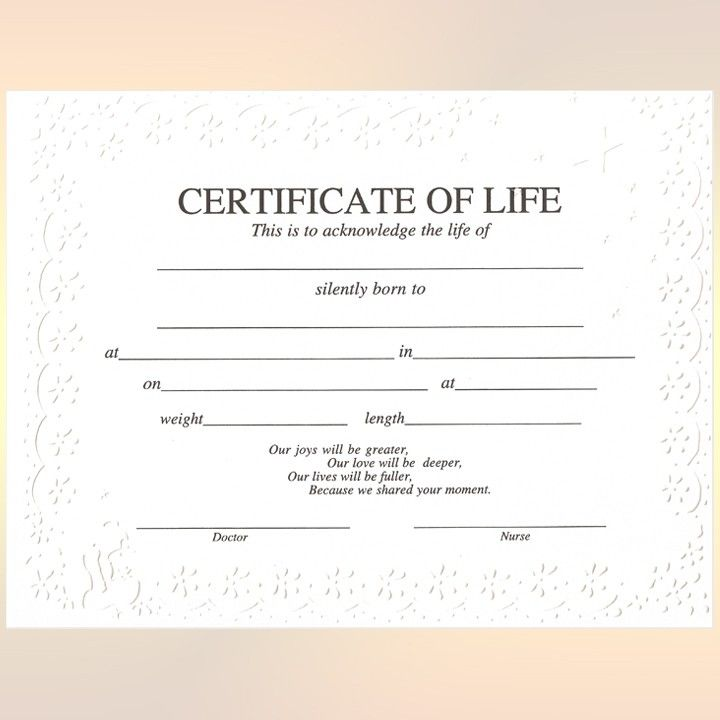 Baby Birth Certificate Blank: Certificate Templates, Baby Death