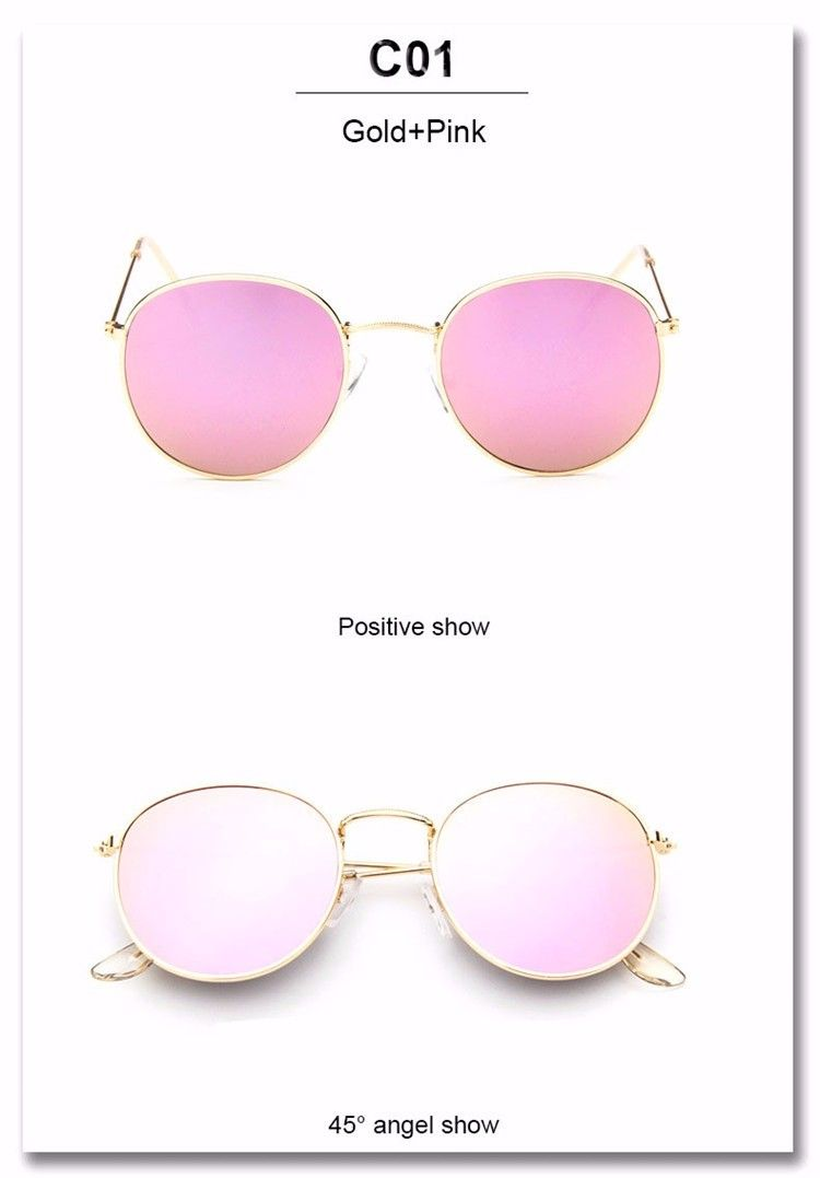 34dec96762f0 Luxury Brand Design Round Sunglasses Women Men Brand Designer Vintage Retro  Mirror Sun Glasses For Women Female Ladies Sunglass (18)