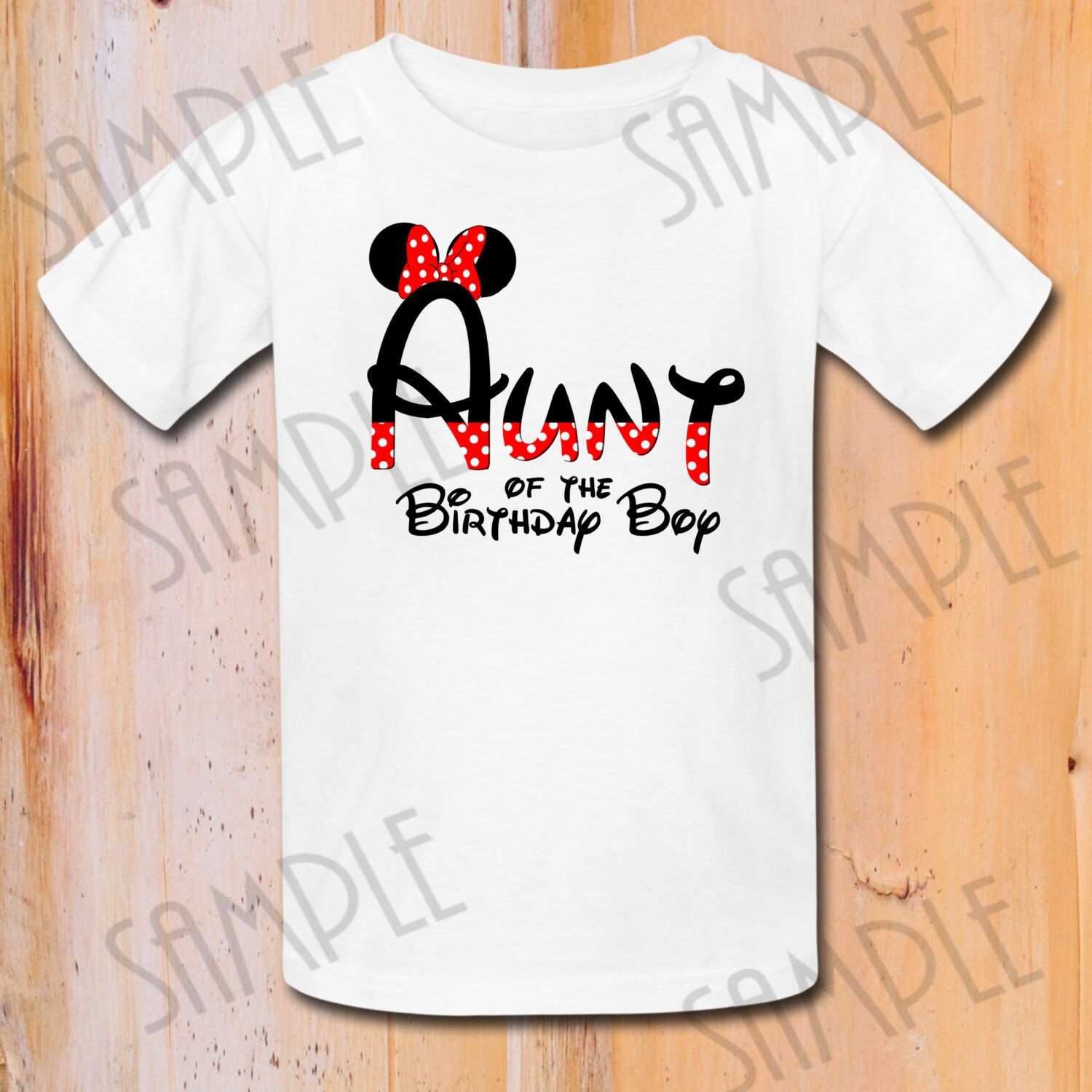 INSTANT DOWNLOAD Disney Minnie Mouse Iron On Transfer Aunt Birthday Party Printable