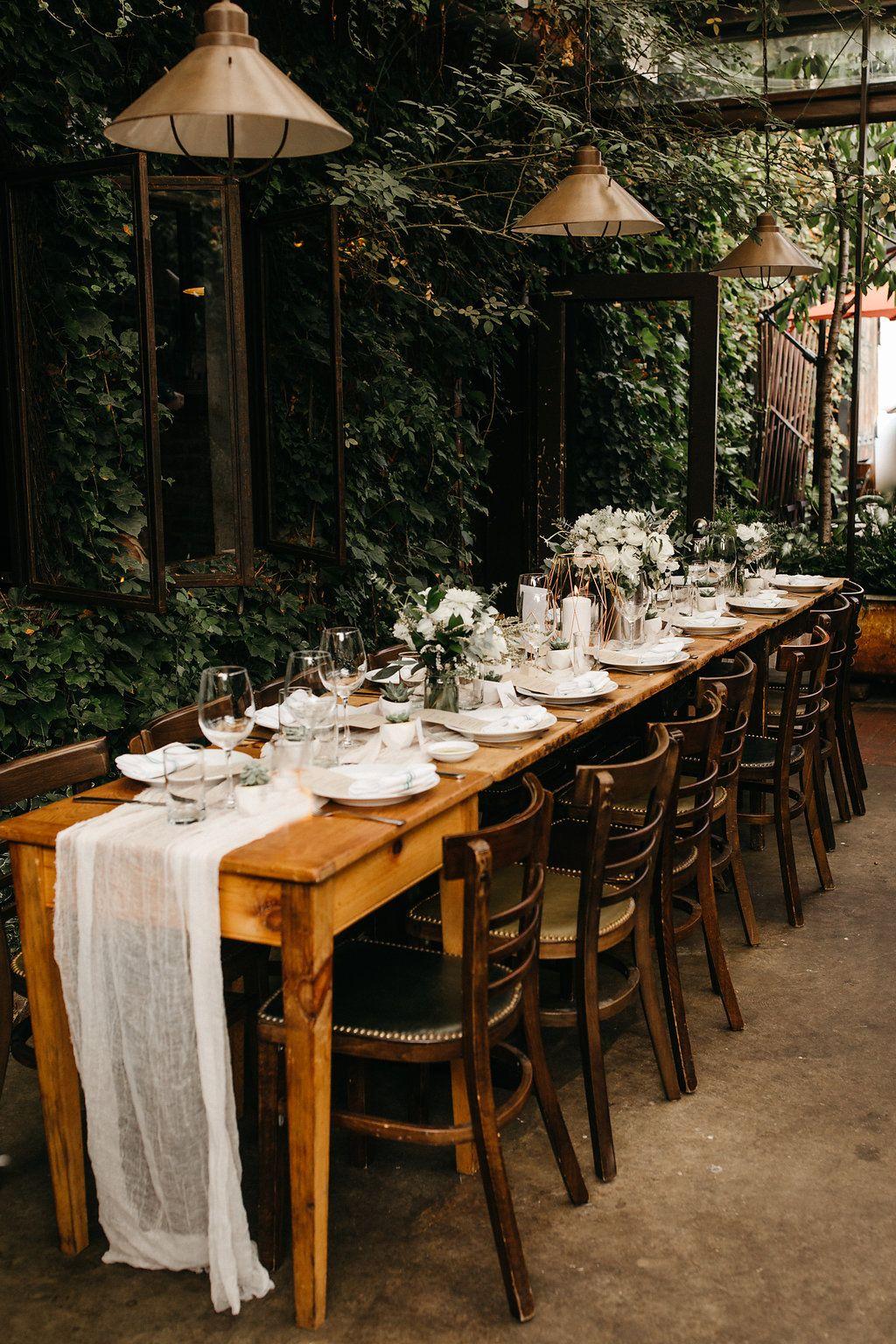 Modern wedding decor images  Summer Brooklyn Modern Wedding Venue Modern Ceremony Modern