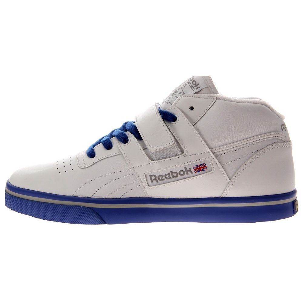 NEW REEBOK WORKOUT MID STRAP LV Athletic White Blue MENS NIB vintage classic   Reebok  AthleticSneakers daa41232a