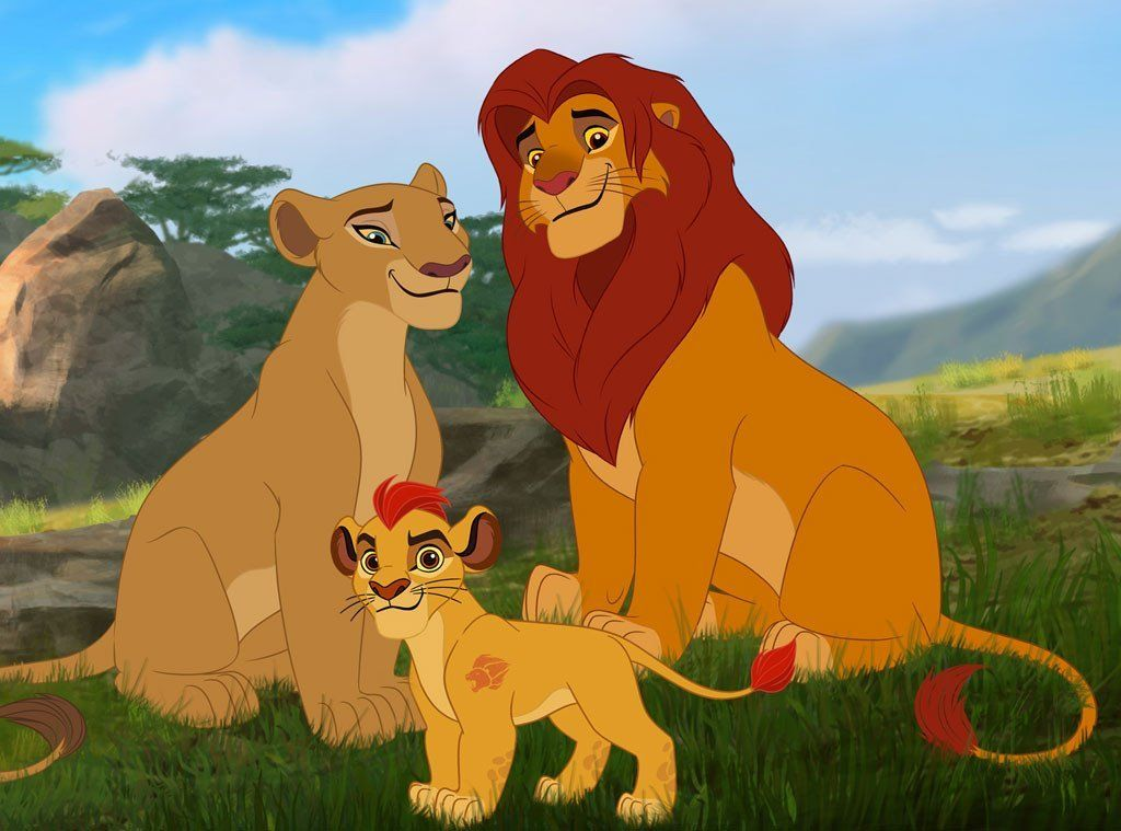 the lion guard tv series  simba  nala  and kion  i love