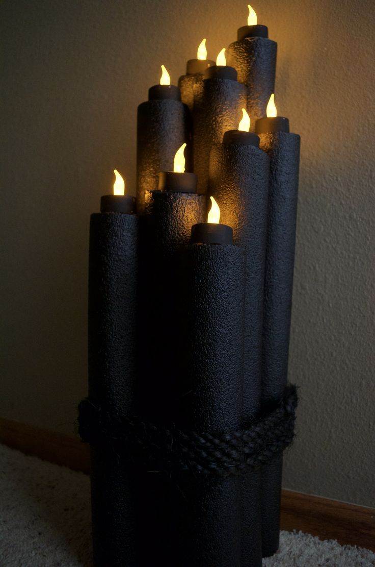 Recycled Pool Noodle Halloween  Harry Potter Decor Idea Halloween - halloween office decorations ideas