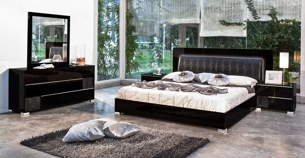 DISCOUNT Modrest Grace Italian Modern Beige Bedroom Set3