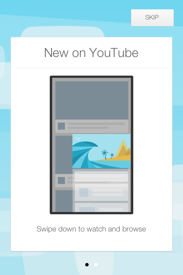 screen của Youtube app for iOS bản mới update