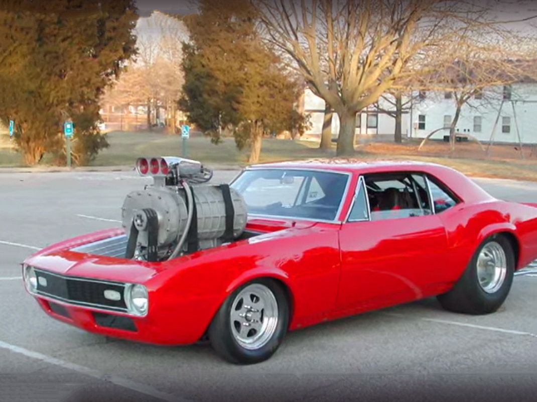 Watch The Original Footage Of This 68 Camaro With A Giant