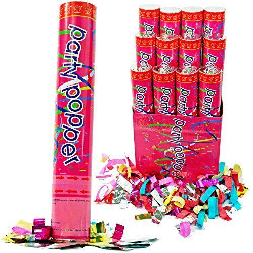 1 ct. 12 pieces per ct. Confetti Poppers Party Accessory