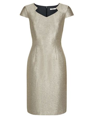 1a8133f99afa PRECIS GOLD CRINKLE DRESS now £49. | modas | Dresses, Petite wedding ...