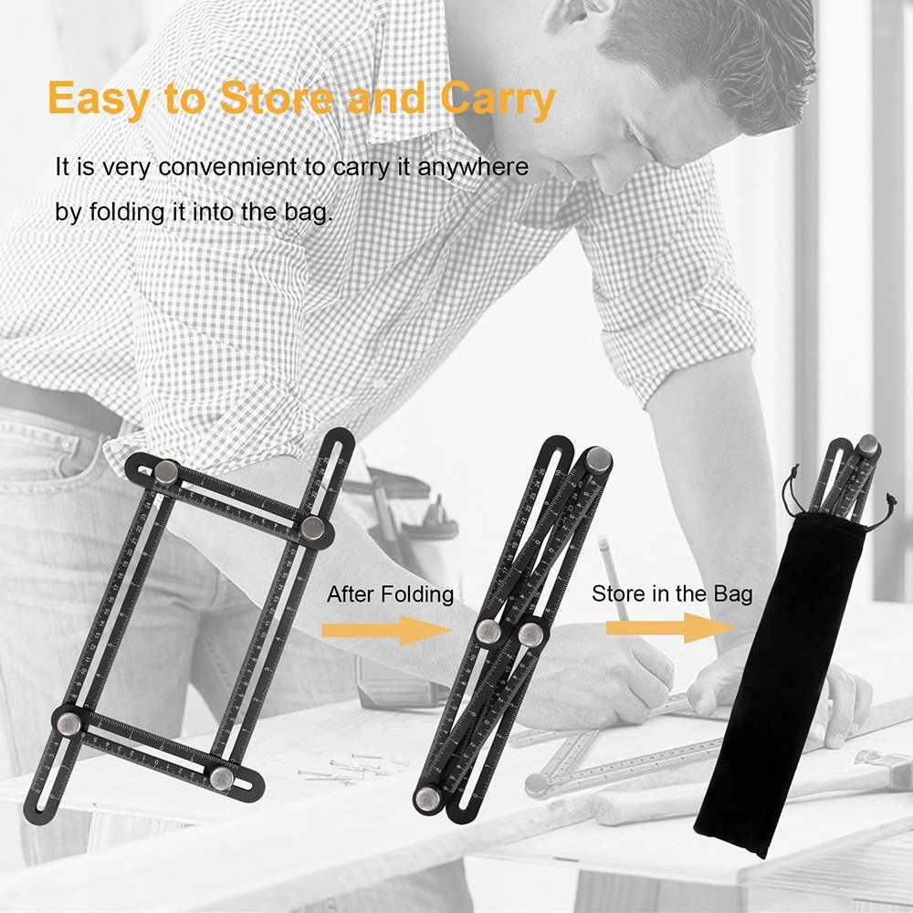Smallcar Multi Angle Measuring Ruler Aluminum Alloy Multi Functional Measurement Tool Template/Layout Tool for MenHandymen Builders Craftsmen Carpenters Roofers Tilers DIYers and GREAT GIFT * Click picture for more details. (This is an affiliate link).