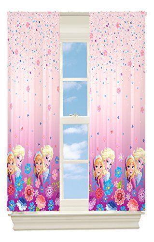 Girls Room Darkening Curtains Disney Frozen Elsa Anna Pink