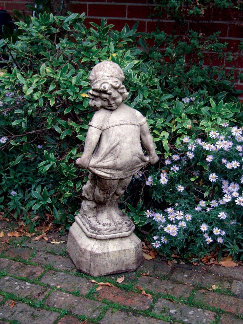 Victorian Girl Stone Sculpture Large Garden Statue | Su0026S Shop