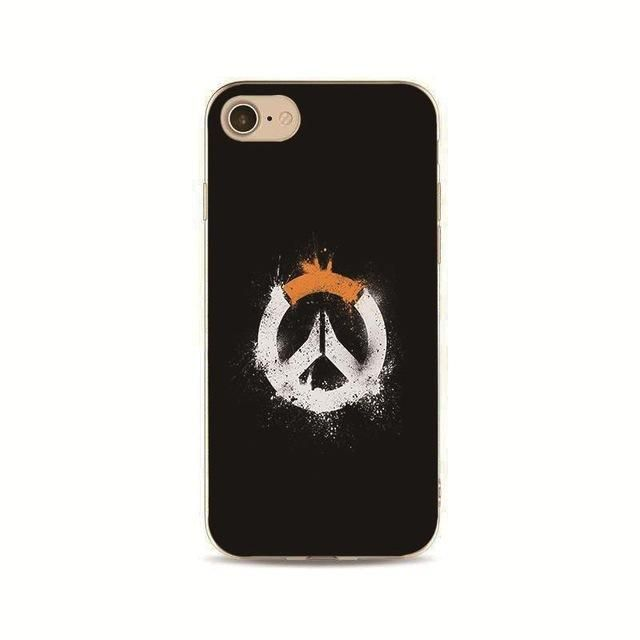 new style bc8fe 1e554 Overwatch phone case reaper sombra genji cover for iPhone 7 plus 4 ...