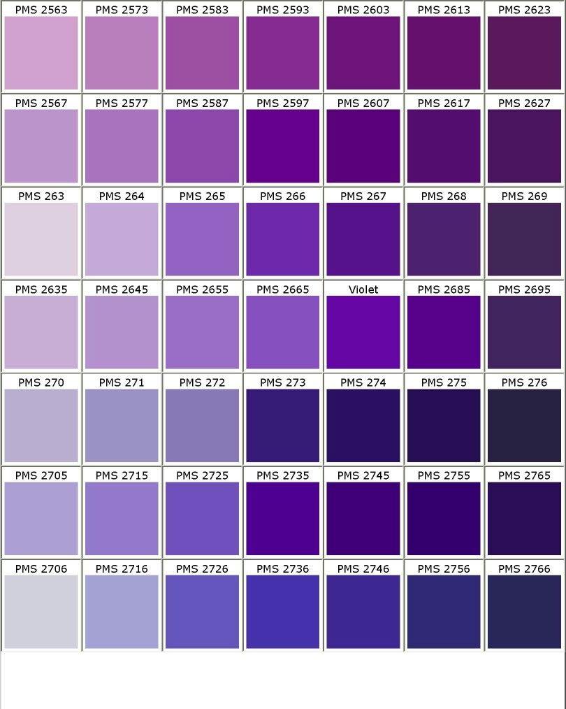 Nuancier Pantone Bioletbleu Don En 2019 Pantone Color Chart
