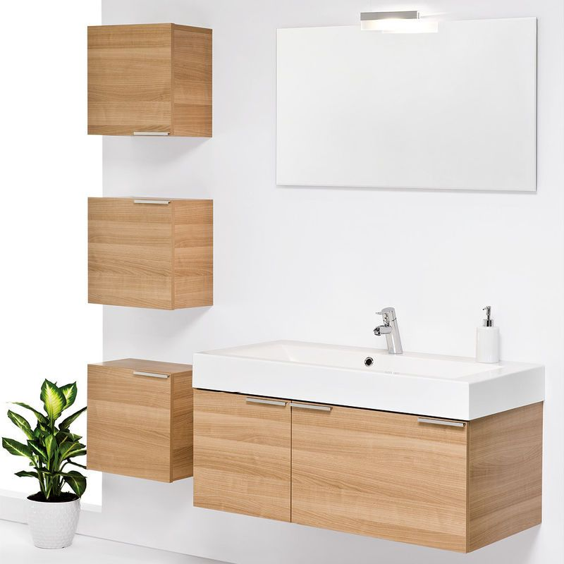Birch Bathroom Vanities practical type solid wooden bathroom vanity---wall mounted in