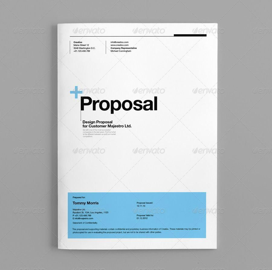 Graphic Design Proposal Template Beautiful Proposal Template Suisse Design Graphicriver In 2021 Proposal Templates Business Template Proposal