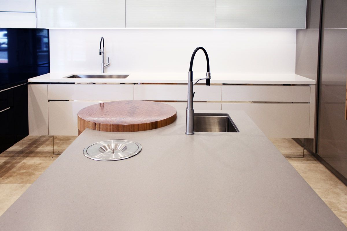 Kitchens Drummoyne Impala Kitchens Drummoyne Caesarstone Sleek Concrete Kitchen