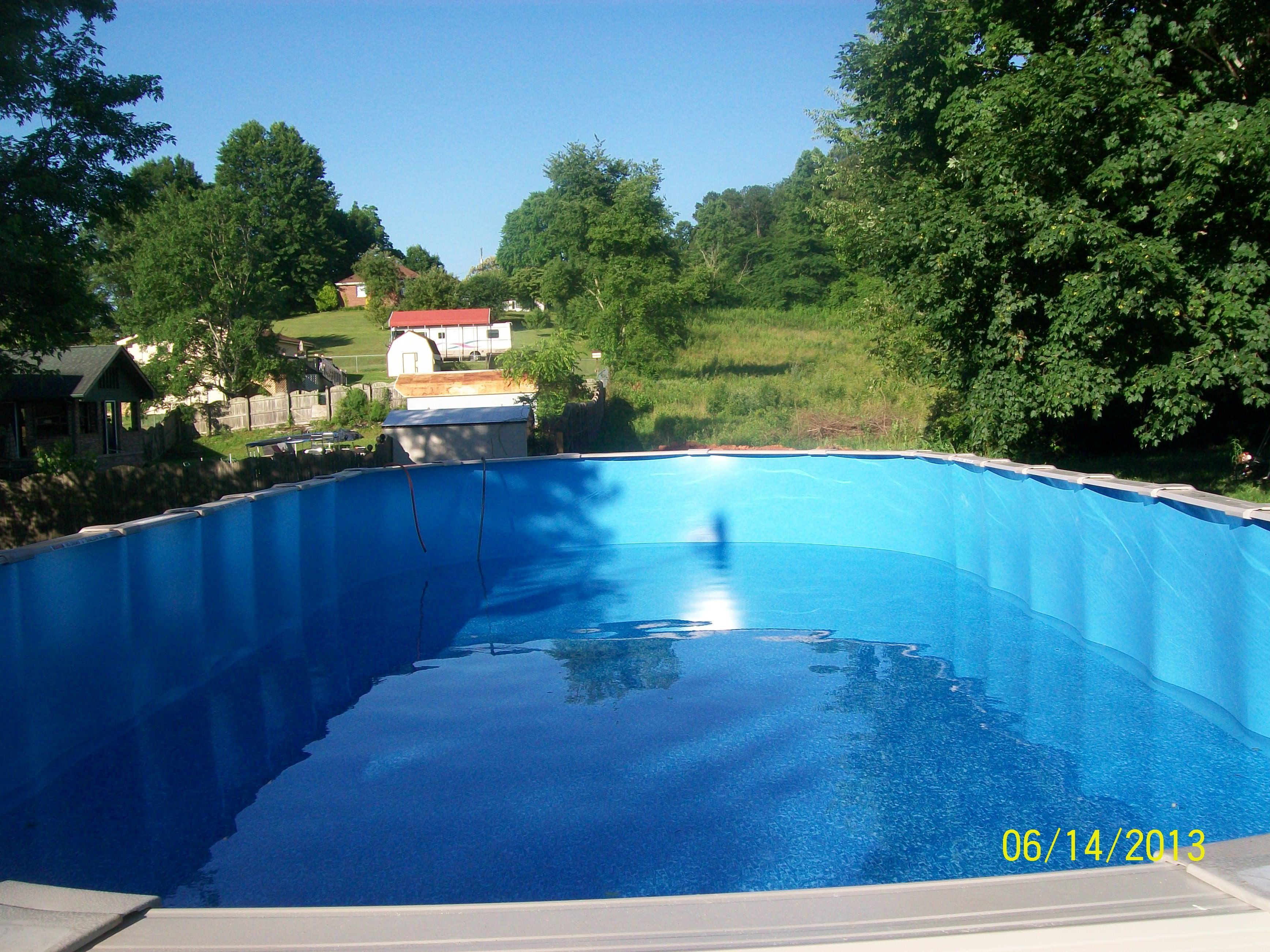 18 X 44 Oval Above Ground Pool Knoxville Tn By Poolman Concrete Doctor In Ground Pools Oval Above Ground Pools Pool